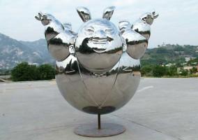 Edelstahl Buddha